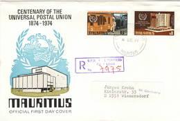 Mauritius 1974 UPU U.P.U. Weltpostverein Universal Postal Union Centenary FDC - UPU (Union Postale Universelle)