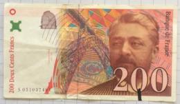 200 Francs, France, Gustave Eiffel. 1997 - 1992-2000 Dernière Gamme