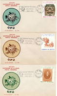Mexico 1974 UPU U.P.U. Weltpostverein Universal Postal Union Centenary 3 FDC - UPU (Union Postale Universelle)