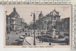CATANIA  PIAZZA DUOMO E FONTANA DELL'ELEFANTE  1939  VG - Catania