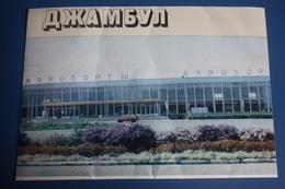 KAZAKHSTAN. Taraz (Jambyl) City. Airport - Aeroport. 1982 Old  Postcard - Aerodromi