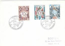 Monaco 1974 UPU U.P.U. Weltpostverein Universal Postal Union Centenary FDC - UPU (Union Postale Universelle)