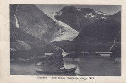 Norway PPC Bondhus - Bræ Sundal Mauranger Norge 1927 MAURANGER 1928 France Stamp Removed (2 Scans) - Noruega