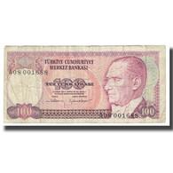 Billet, Turquie, 100 Lira, 1970, 1970-01-14, KM:194b, TB - Turkey