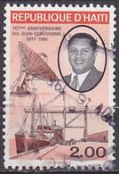 Timbre Oblitéré N° 791(Yvert) Haïti 1981 - Anniversaire Du Jean-Claudisme - Haití