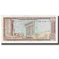 Billet, Lebanon, 1 Livre, KM:61b, TTB - Libano
