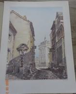 VIEUX VERVIERS 1900  Coffret  6 Aquarelles Michel Demarets ( Port Folio) - Folletos Turísticos