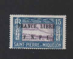 Faux Curiositée N° ? 15 C Saint-Pierre Et Miquelon Gomme Charnière - Unused Stamps
