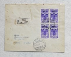 Busta Di Lettera Raccomandata Da Trieste Per Vizzini (CT) 1953 - 7. Triest