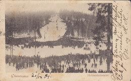 Norway PPC Christiania Holmenkolrendet 1901 PARIS France Simple Backside (2 Scans) - Noruega