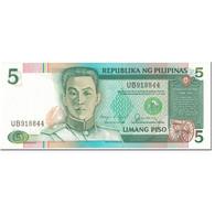 Billet, Philippines, 5 Piso, 1985-1994, Undated (1985-1994), KM:168d, NEUF - Filippijnen