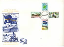 Nauru 1974 UPU U.P.U. Weltpostverein Universal Postal Union Centenary FDC - UPU (Union Postale Universelle)