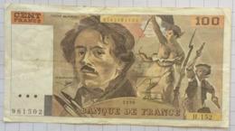 100 Francs, France, Delacroix 1990. - 100 F 1978-1995 ''Delacroix''