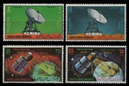 Ver. Arabische Emirate 1975 - Mi-Nr. 36-39 ** - MNH - Erdfunkstelle - Emiratos Árabes Unidos