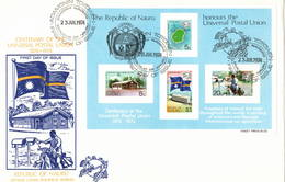 Nauru 1974 UPU U.P.U. Weltpostverein Universal Postal Union Centenary FDC M/S - UPU (Union Postale Universelle)
