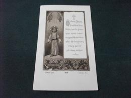 SANTINO HOLY PICTURE GESU' L. BEUZON 4238 A. ROBLOT PARIS - Religion & Esotericism