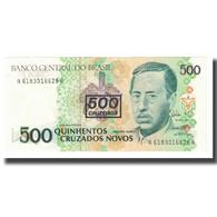 Billet, Brésil, 500 Cruzeiros On 500 Cruzados Novos, KM:226b, SPL - Brasile