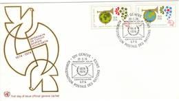 United Nations Geneve 1974 UPU U.P.U. Weltpostverein Universal Postal Union Centenary FDC - UPU (Union Postale Universelle)