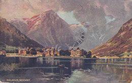 United States PPC Balholm Sogne Fjord Fjærland Fiord 1910 VANNES Morbihan France 2c. George Washington Stamp (2 Scans) - Norvège