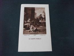 SANTINO HOLY PICTURE LA SAINTE FAMILLE MURILLO 4476 A. ROBLOT PARIS - Religione & Esoterismo