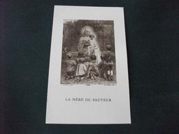 SANTINO HOLY PICTURE LA MERE DU SAUVEUR GIRONDON 4451 A. ROBLOT PARIS - Religion & Esotericism