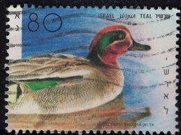 Israël 1989 Oblitéré Used Oiseau Canard Anas Crecca Sarcelle D'hiver SU - Israel