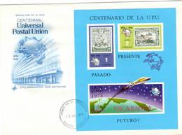 Nicaragua 1974 UPU U.P.U. Weltpostverein Universal Postal Union Centenary M/S - UPU (Union Postale Universelle)