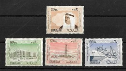 U A E Sharjah Postal Used Stamps 1970 Value 20 Dh, 60 Dh,60 Dh, 60 Dh Anni Of Accession Used - Sharjah