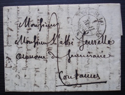 Saint Lô, 1830 Jolie Lettre Pour L'aumônier Du Séminaire à Coutances - Postmark Collection (Covers)