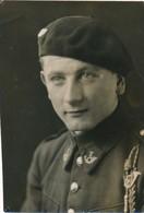 Grande Argentique Portrait Militaire 7è Régiment Béret Fourragère Soldat écusson - Guerre, Militaire