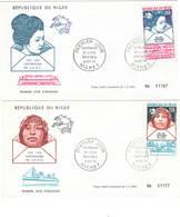 Niger 1974 UPU U.P.U. Weltpostverein Universal Postal Union Centenary 4 FDC - UPU (Union Postale Universelle)