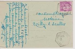 Poste Automobile Rurale Tilly Sur Seulles CP N°1 Calvados 18/04/1934 - Postmark Collection (Covers)