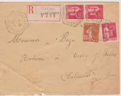 Poste Automobile Rurale Tilly Sur Seulles CP N°1 Calvados 01/04/1936 Sur LR (dechirure) - Postmark Collection (Covers)
