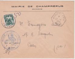 Poste Automobile Rurale Villedieu CP N°6 Manche 27/04/1960 (taxée) - Postmark Collection (Covers)
