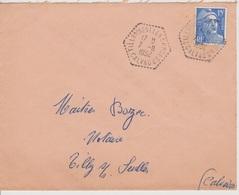 Poste Automobile Rurale Tilly Sur Seulles CP N°1 Calvados 07/11/1952 - Postmark Collection (Covers)