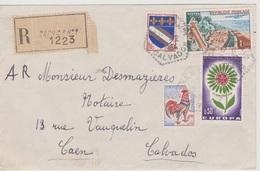 Poste Automobile Rurale Caen CP N°1 Calvados 12/1954 Sur LR - Postmark Collection (Covers)
