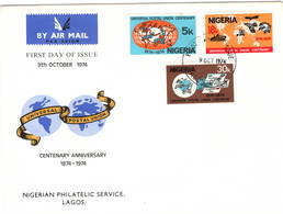 Nigeria 1974 UPU U.P.U. Weltpostverein Universal Postal Union Centenary FDC - UPU (Union Postale Universelle)