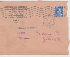 Poste Automobile Rurale Caen CP N°2 Calvados 09/10/1954 - Postmark Collection (Covers)