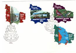 Norfolk Island 1974 UPU U.P.U. Weltpostverein Universal Postal Union Centenary FDC - UPU (Union Postale Universelle)