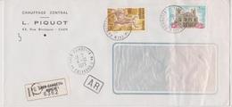 TAD 14 Caen Gambetta AN 1 04/10/1973 Calvados (annexe) Sur LRAR - Postmark Collection (Covers)
