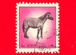 AJMAN - Usato - 1972 - Animali - Cavallo - Prezwalski Horse (Equus Prezwalski) - Formato Piccolo - 3 - Ajman