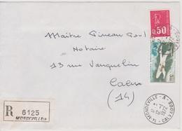 Recette Auxiliaire Urbaine Mondeville A Calvados 12/01/1972 Sur LR - Postmark Collection (Covers)