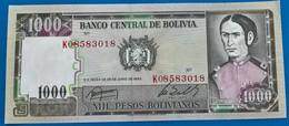 BOLlVIA- Banknote  -1987 -1000 Pesos-UNC - Bolivien