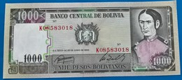 BOLlVIA- Banknote  -1987 -1000 Pesos-UNC - Bolivie