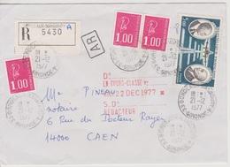 Recette Auxiliaire Urbaine 33 Bordeaux Nansouty A Gironde 21/12/1977  Sur LRAR - Postmark Collection (Covers)