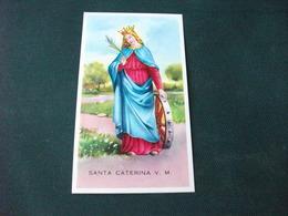 SANTINO HOLY PICTURE SANTA CATERINA V. M.  E/563 - Religione & Esoterismo