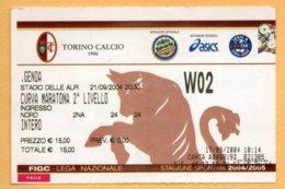 Biglietto Ingresso Stadio Torino Genoa - 2004 - Tickets - Entradas