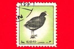 AJMAN - Usato - 1972 - Uccelli - Birds - Eurasian Coot (Fulica Atra) - Formato Piccolo - 3 - Ajman