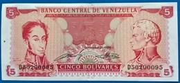 VENEZUELA- Banknote  -1989  5Bolivares-UNC - Venezuela
