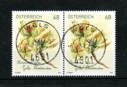 """Österreich 2018:  """"Gelber Rhododendron"""" PAAR Gestempelt (siehe Foto) - 2011-... Gebraucht"""